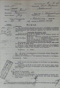 Baubescheid vom April 1932