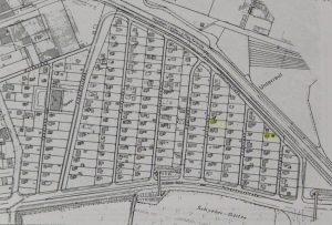 Lage und Anordnung der Häuser (Planfeststellung 1960)